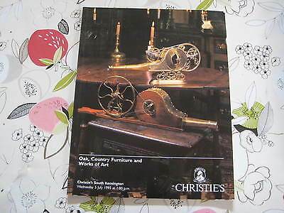 Christies Catalogue Oak, Country Furniture & Works Of Art Lon Jul95