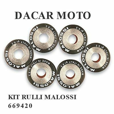 669420 SET 6 ROLLERS MALOSSI HTROLL Ø 19X15,5 G 6,5 PIAGGIO NRG Power DT 50 2T