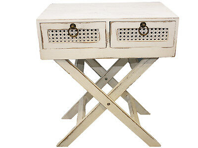 Lorette Side Table 2 Drawer French Chic Console Bedside
