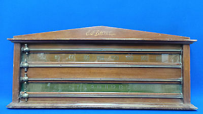 Beautiful Vintage 1950's E.J Riley Snooker Score Board with Glass Inserts