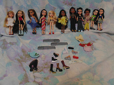 MGA Lil Bratz~11 dolls all dressed with shoes & extras