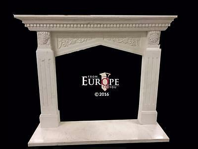 Beautiful Hand Carved Marble Fireplace Mantel - Jd204