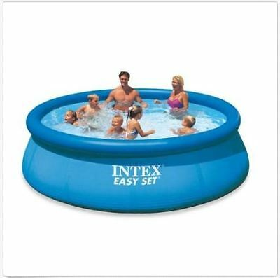 Intex Swimming Pool Easy Set Round Pump Family Kids Outdoor Fun Above Ground NEW