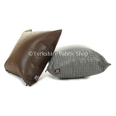 New Animal Alligator Skin Pattern Soft Suede Leatherette Cushion Cover & Filling