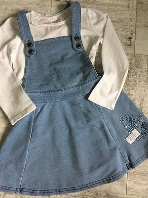 Girl Outfit Set Top And Pinafore Dress NEXT Age 2-3 Years