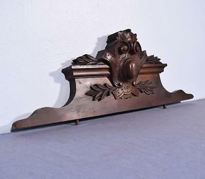 "*34"" French Antique Pediment/Crest/Panel in Walnut Wood"