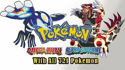 Mail-in Unlock Service for Pokemon ORAS XY 3DS All 721 Shiny Pokemon All Items