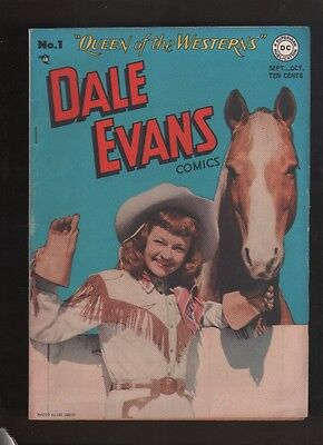 "1948 1st ISSUE "" DALE EVANS "" QUEEN OF WEST DC  COMIC BOOK COMPLETE & ORIGINAL"