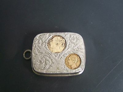 Silver Plated Coin Holder