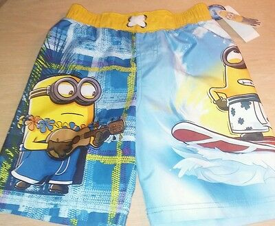 NWT 4T Despicable Me Minions swim trunks swimsuit uv protection