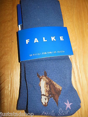 FALKE girl tights horse Little star BNWT 110-116 UK 9-11.5 US 10-12.5  5-6 y