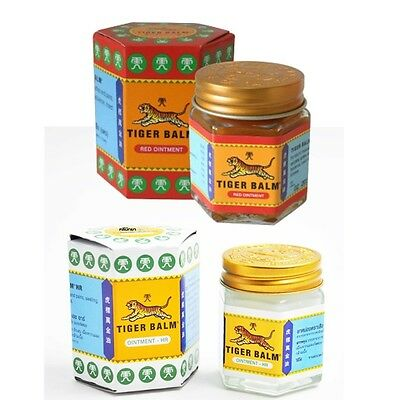 Tiger Balm 30g Red White Thai Herb Relief Massage Rub Ointment Aches Pains New