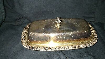 Vintage Henley Oneida Silverplate Covered Butter Dish no glass liner