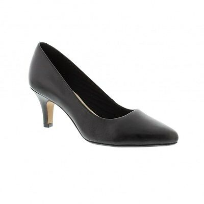 Clarks Womens Heels Isidora Faye - Black Leather