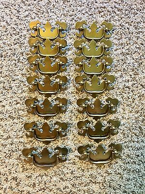 Chippendale Brass Cabinet/Drawer Pulls - Polished Antique
