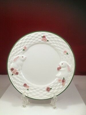 1994 Avon Bunny Collection White Glazed Earthenware Plate