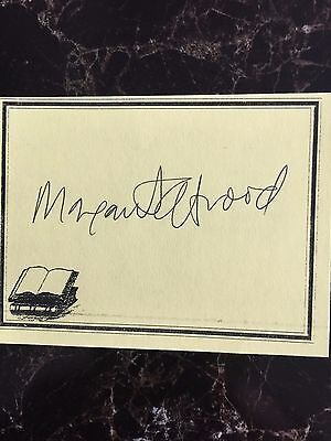 Margaret Atwood, Author Signed Bookplate