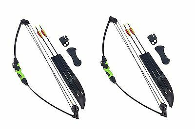 2 x Archery Wildcat Kids Junior Children Compound Bow and Arrows Fun Garden Set