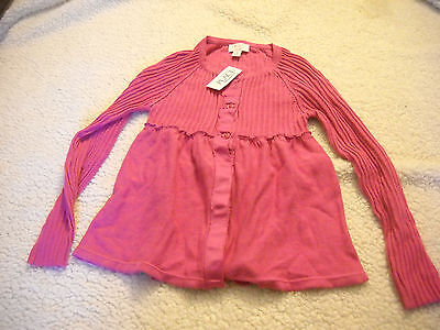 THE CHILDREN'S PLACE Girl's Button Up Sweater Top Cardigan Crew Neck Sz 7/8 Med