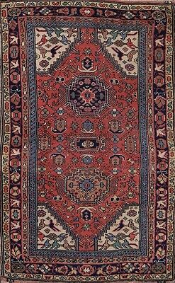 Antique Geometric Tribal 3x5 Kazak Caucasian Russian Oriental Area Rug Carpet