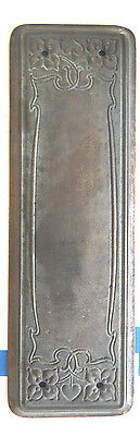 1 old HEAVY BRONZE PUSH PLATE OLD DOOR HARDWARE ARTS AND CRAFTS