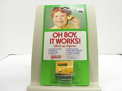 New  Vintage Galoob 1979 Wind-Up Jigsaw It Really Works! Small/cute! 3 Yrs.+