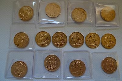 1871-1887 Gold Sovereign coin - choice of Victoria Young Head 1 Full Sovereign