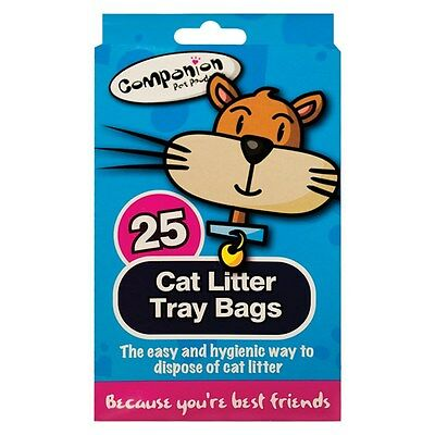 Cat Litter Tray Liners - Easy Pet Waste Disposal In Hygienic Way 25 Bags 1 Pack\