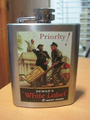 Dewar's Collectible White Label Stainless Steel Flask 3Oz