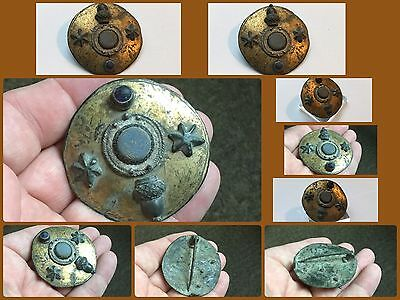 Very Rare Large Roman Bronze Disc Brooch2/3cent AD Military Brooch