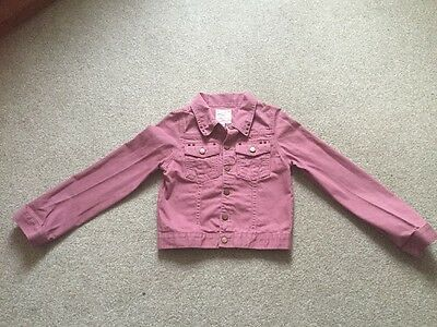 Marks And Spencer Girls Pink Denim Jacket Age 11-12 Years