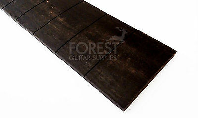 "Ebony guitar fretboard, fingerboard 24.75"" Gibson, slotted compound radius"