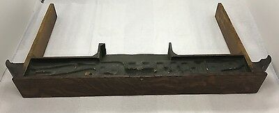 Antique Singer Treadle Sewing Machine Center Middle Pull Open Drawer