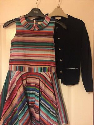 Paul Smith Dress And Cardigan Age 8 Years Perfect