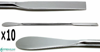10× Dental Lab Spoon Spatula Double Ended 18cm Medical Mixing Instruments