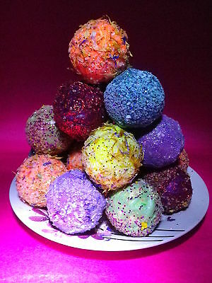 10 Lush Smelling Beautiful Gem Bath Bombs Fizzy Limited Offer £12.99