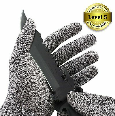 Safety Cut Proof Stab Resistant Stainless Steel Metal Mesh Glove For Butcher New