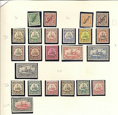 SAMOA  (GERMAN) 1900 VALS TO 50pf, 1900-15 YACHTS TO 5m FRSH MINT