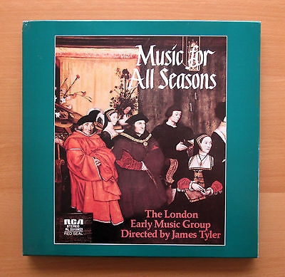 RL 25159 Music For All Seasons London Early Music Group RCA 2xLP + booklet NM/EX