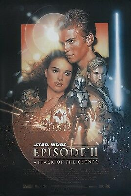 STAR WARS EPISODE II Attack Of The Clones One Sheet Original Movie Poster 27x40