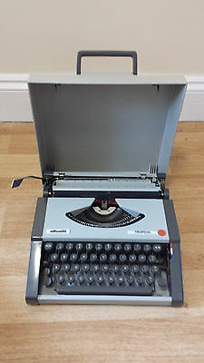 Vintage Olivetti Tropical typewriter & case