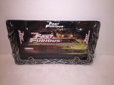 The Fast And The Furious Metal Flames License Plate Frame Vin Diesel Paul Walker