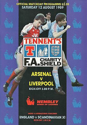Arsenal v Liverpool - FA Charity Shield - 12 August 1989