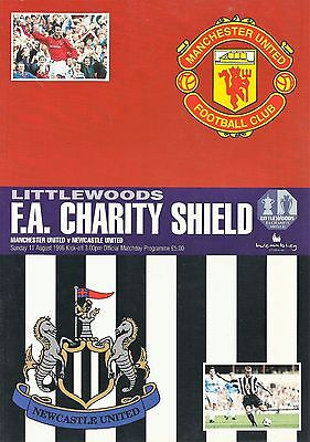 Manchester United v Newcastle United - FA Charity Shield - 11 August 1996