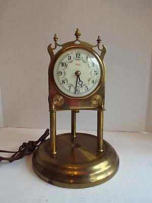 Vintage KUNDO Brass Anniversary Clock Germany For Parts Repair Only No Dome