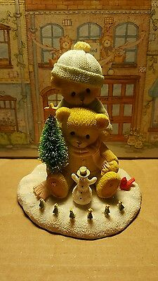 Cherished teddies Liz and Marcos,  Snow days are the best days.