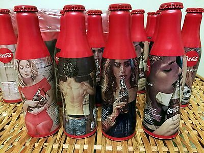 Full Set of 4 Aluminium Bottles Coca-Cola Taste the Feeling, Limited Edition, BG
