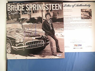 Bruce Springsteen Signed Chapter And  Vers Album PSA DNA COA LOA Autograph