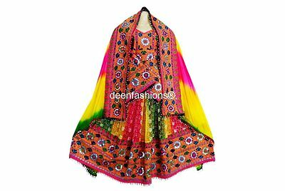 Afghan Fashion bridal Suit With Mirror Work Embroidery