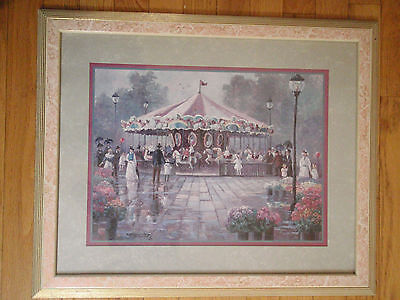 Home Interior by Bettie Hebert Cheerful whirl of Carousel in Park w 3 Birds